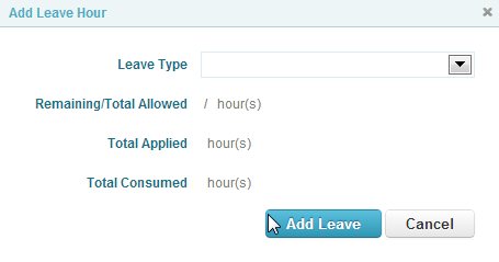 Adding Leave Hours