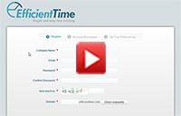 How Do I Register an Account in EfficientTime?